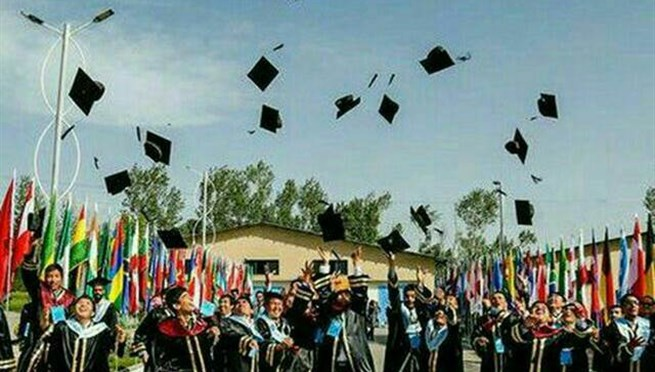 Graduation ceremony for foreign students