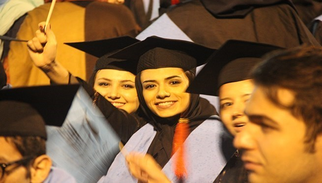 TUMS Students at a Graduation Ceremony
